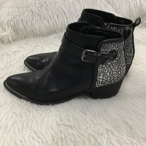 Circus Sam Edelman black leather ankle boots